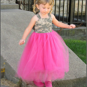 Army Tutu Dress, ACU Tutu Dress, Camo Dress, Camouflage Tutu, size 6-12 years