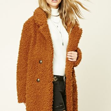 Longline Faux Fur Jacket