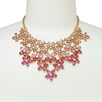 kate spade new york Ombre Bouquet Statement Necklace - Roses Multi