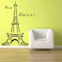 Eiffel Tower Ooh La La Paris Vinyl Wall Decal Sticker Home Decor 3ft:Amazon:Everything Else