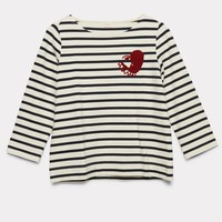 Weeping Hearts Stripe Top