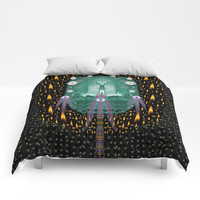 Temple of yoga in light peace and human namaste style Comforters by Pepita Selles