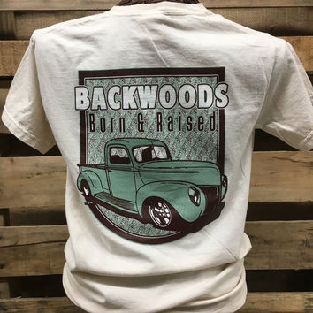 Backwoods Born & Raised Old Truck Classic Comfort Colors Bright Unisex T Shirt