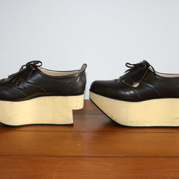 90s club kid lolita harajuku rocking horse oxford leather platform shoes