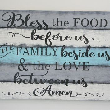 Bless The Food Before Us The Family Beside Us And The Love Between Us Kitchen Dining Room Decor