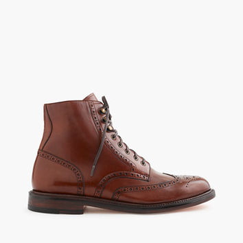 J.Crew Mens Ludlow Wing Tip Boots