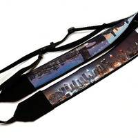 New York Camera Strap. City Camera Strap. Nikon, Canon Camera Strap. Dslr Camera Strap