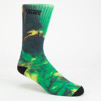 Vans Tie Dye Mens Crew Socks Green Combo One Size For Men 25093254901