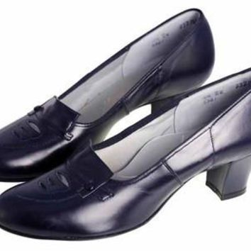 Vintage Blue Leather Pumps Shoes NIB 1950  8.5 Miracle Tread