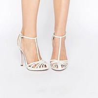 ASOS PEACE Bridal Caged High Heels at asos.com