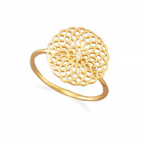 14K Gold Plated Spiral Cut Out Design Ring