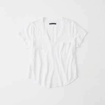 Womens V-Neck Boyfriend Tee | Womens Tops | Abercrombie.com