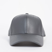 Sporty Leather Baseball Cap
