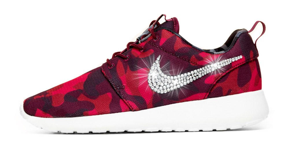 Nike Roshe One Customized by Glitter Kicks - Red Black Camo 07617ad07