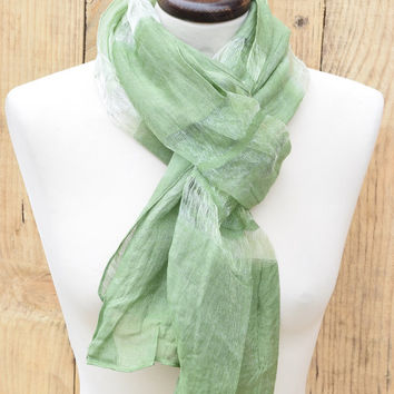 Women Scarf Green, Elegant Wrap, Women's Scarf Green Evening Wrap Shawl Long Women's Scarf Designer Shawl Evening Wrap Gift idea for Her