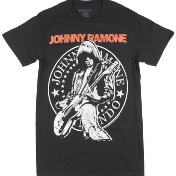 The Ramones Johnny Ramone T-Shirt Rock Punk Music Tees Mens Black Fashion Classic 100% Cotton Men Women T Shirt Tees Custom