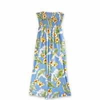 Atoll Blue Maxi Hawaiian Dress