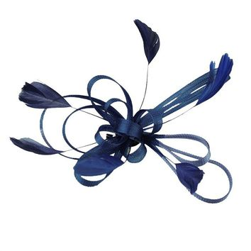 Wedding Bridal Feather Fascinator with attached clip - Free Shipping