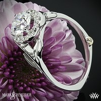 18k White Gold Mark Schneider Bloom Solitaire Engagement Ring