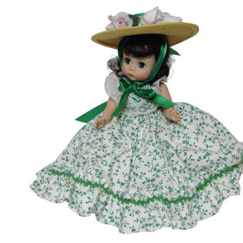 Scarlett O'Hara, Madame Alexander Floral Gown Doll, 426 Boxed Gone with the Wind Miniature Showcase