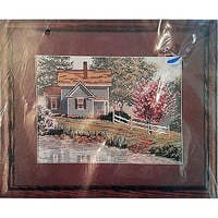 """Spring House Four Seasons Counted Cross Stitch Kit 12 x 9"""" Candamar 50860 c953"""