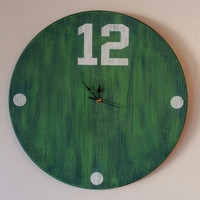 12th Man Clock, 12th Man Cave Clock, Seahawks Inspired Clock, Seahawks, Seahawks Clock, 12th Man, Vintage Inspired Sports Clock, Game Time