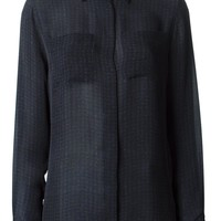 Maison Martin Margiela checked sheer blouse