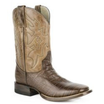 Roper Mens Square 13IN Embossed Alligator Boots