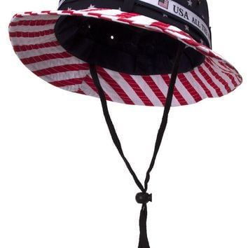 Cotton Twill USA Flag Bucket Hat (For Men and Women)