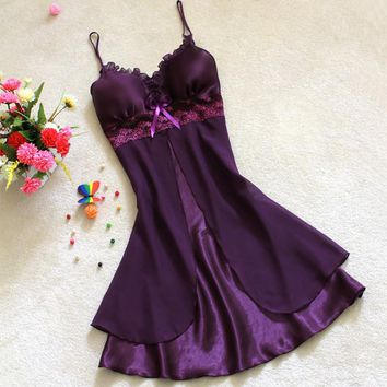 Women's Lace Lingerie Nightgown