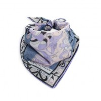 Pink and Blue Bandana Scarf - HER