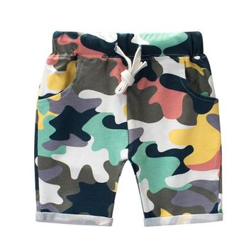 Hot Shorts Fashion Boys Camouflage  Summer Cotton Trousers Kids Army Cool Pants Children Loose Sport Camo  SweatpantsAT_43_3