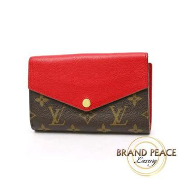 Louis Vuitton monogram W hook wallet Portefeuille Pallas Compact cerise