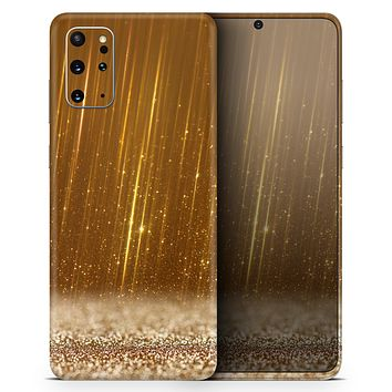 Scratched Gold Streaks - Skin-Kit for the Samsung Galaxy S-Series S20, S20 Plus, S20 Ultra , S10 & others (All Galaxy Devices Available)