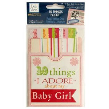 10 Things I Adore About My Baby Girl Journaling Pocket (Available in a pack of 24)
