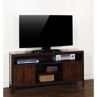 Sunny Designs Crosswinds TV Console In Weathered Mocha
