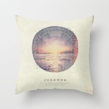 Fernweh Vol 5 Throw Pillow by HappyMelvin | Society6