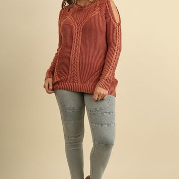 Rustic Rope Knit Sweater | Plus