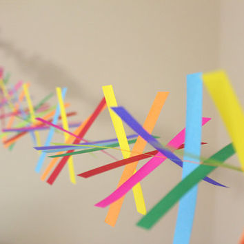 Confetti Paper Garland - Party Garland - Birthdays - Celebrations - Rainbow Garland