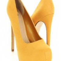 Mustard Faux Suede Closed Toe Platform Pump Heels @ Amiclubwear Heel Shoes online store sales:Stiletto Heel Shoes,High Heel Pumps,Womens High Heel Shoes,Prom Shoes,Summer Shoes,Spring Shoes,Spool Heel,Womens Dress Shoes,Prom Heels,Prom Pumps,High Heel San