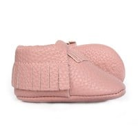Light-Pink-Faux-Leather-Baby-Moccasin