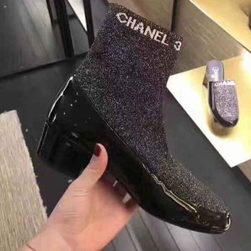 Chanel Women Low Heeled Shoes Boots-2
