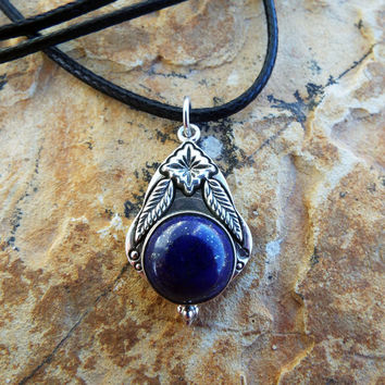 Lapis Lazuli Pendant Silver Handmade Necklace Sterling 925 Gemstone Stone Blue Jewelry Boho