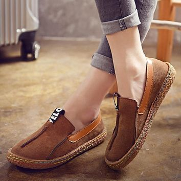 LAKESHI Fashion Women Shoes Casual Flat Shoes Women 2018 Fashion Loafers Shoes Round Toe Oxford Shoes