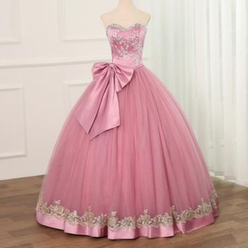 Ball Gown Dresses Tulle With Beads Sequined Sweet 16 Dress Debutante Gown