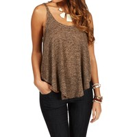 Sale-knit Shirt Tail Top