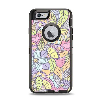 The Subtle Abstract Flower Pattern Apple iPhone 6 Otterbox Defender Case Skin Set