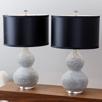Abbyson Silver Plated Sea Urchin Table Lamp (Set of 2)