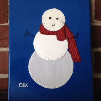 Small Snowman #2 Fabric Wall Art