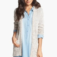 Rubbish® Textured Marled Cardigan (Juniors) | Nordstrom